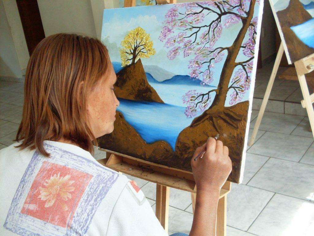 Qualidade de vida - hobbies - pintar quadros