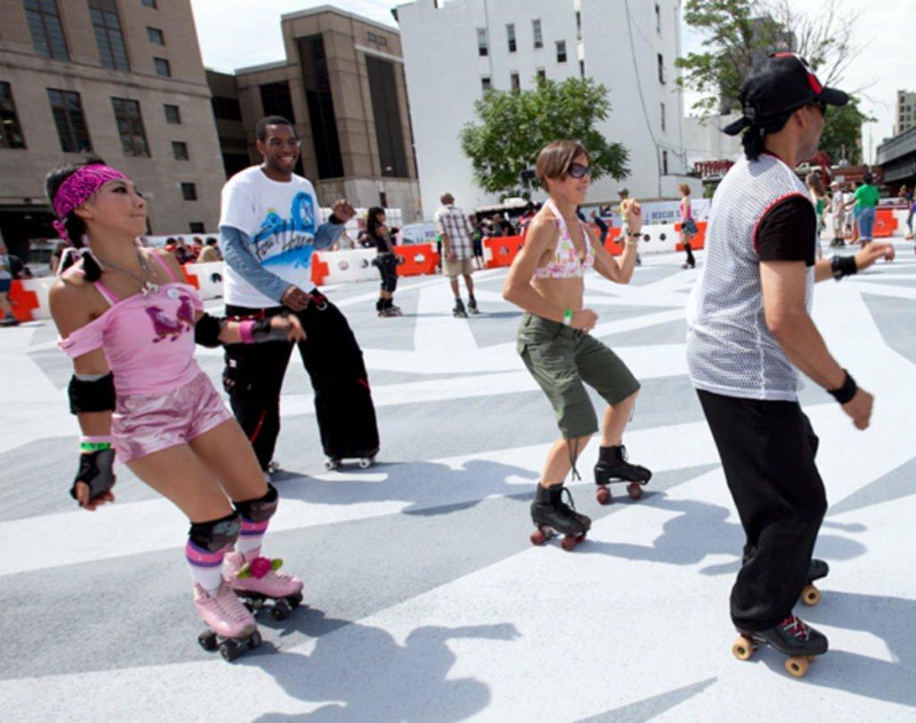Qualidade de vida - patinação para o humor