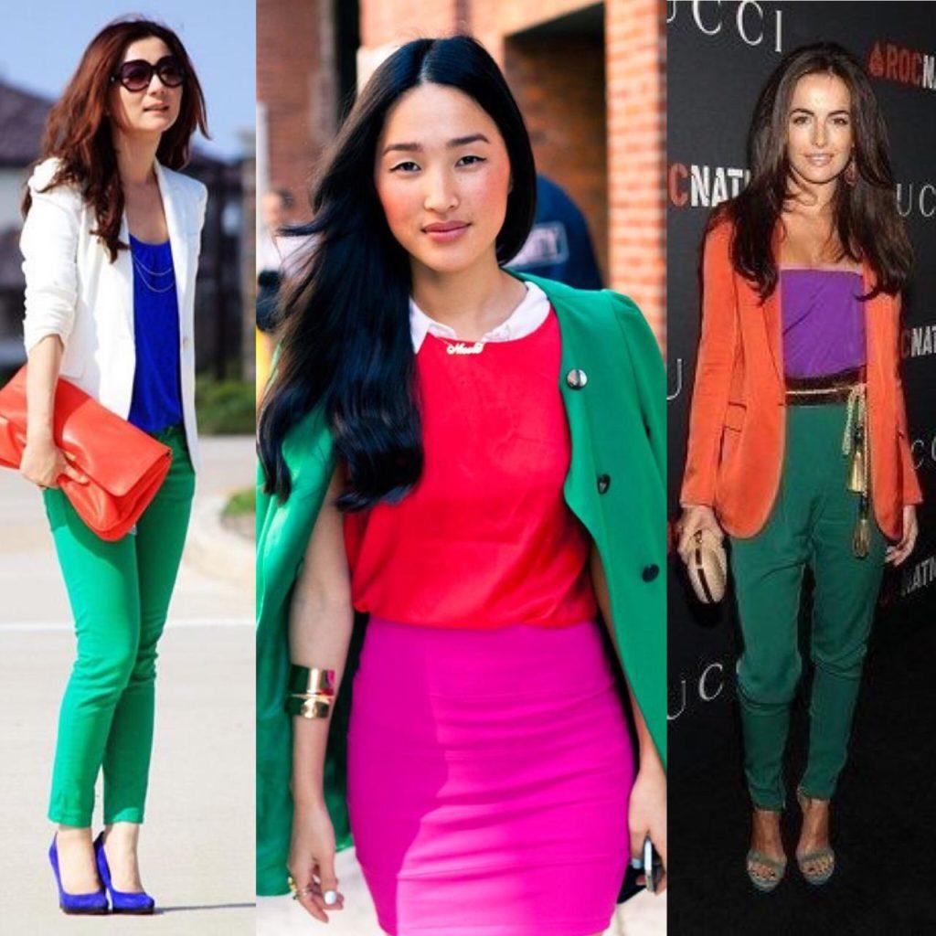 Looks com cores triades são exóticos e trazem um ar de modernidade